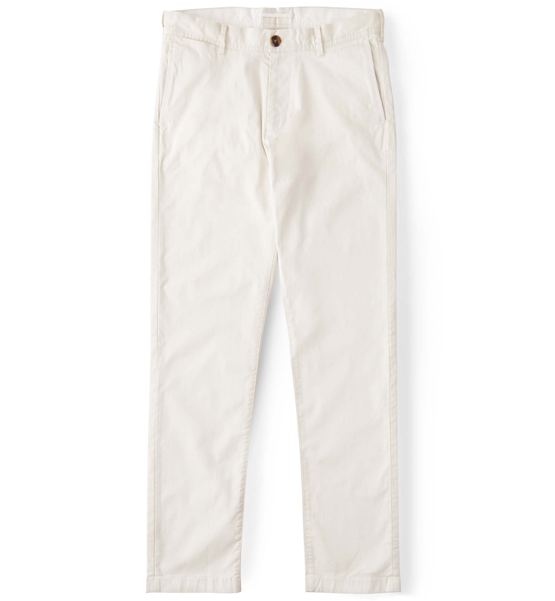 Zoom Image of Bowery Natural White Stretch Cotton Chino