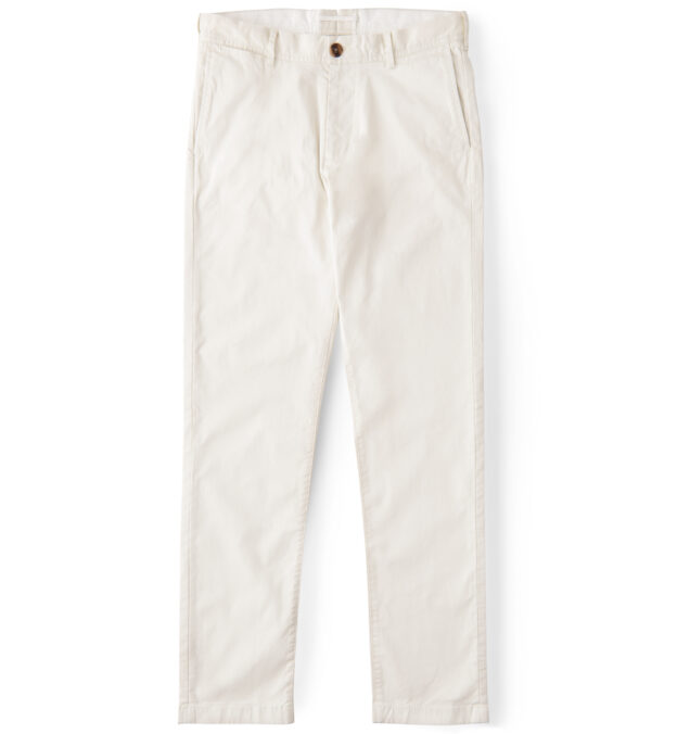 Bowery Natural White Stretch Cotton Chino