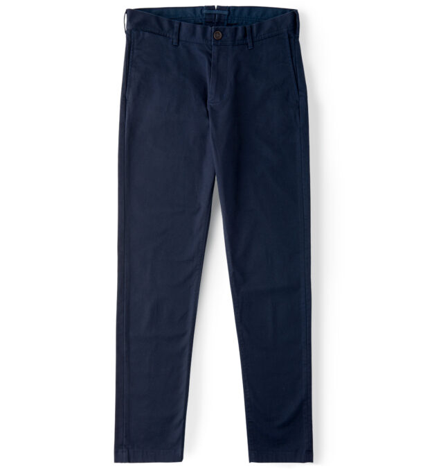 Bowery Navy Stretch Heavy Cotton Chino