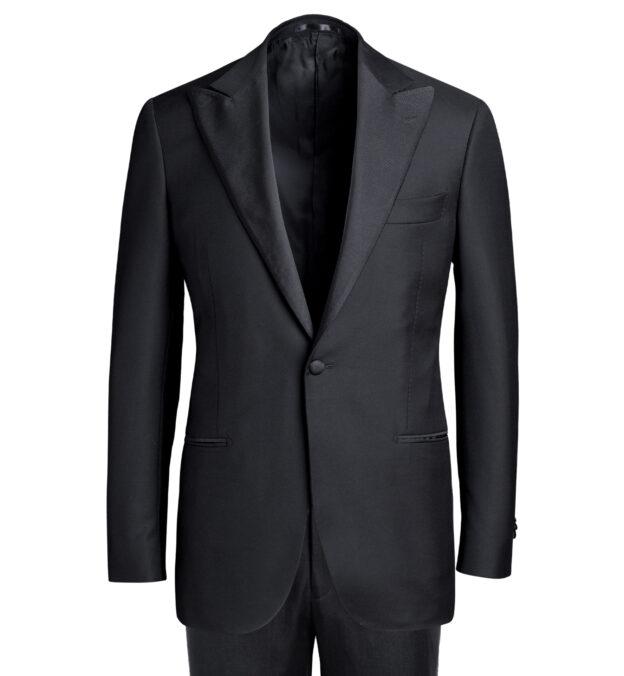 Mayfair Black Wool and Linen Tuxedo