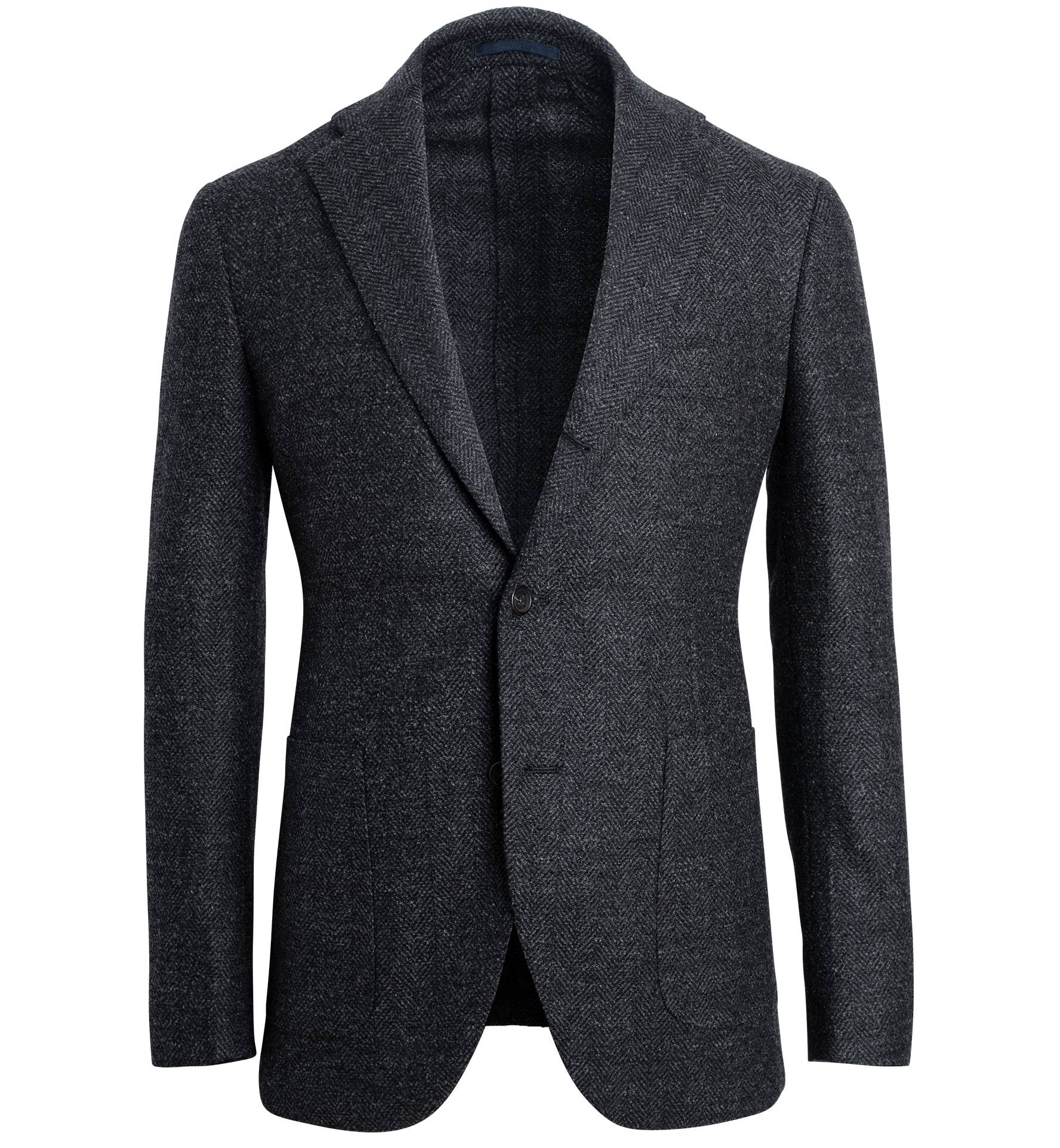 Zoom Image of Bedford Charcoal Herringbone Jacket