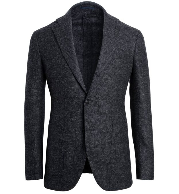 Bedford Charcoal Herringbone Jacket