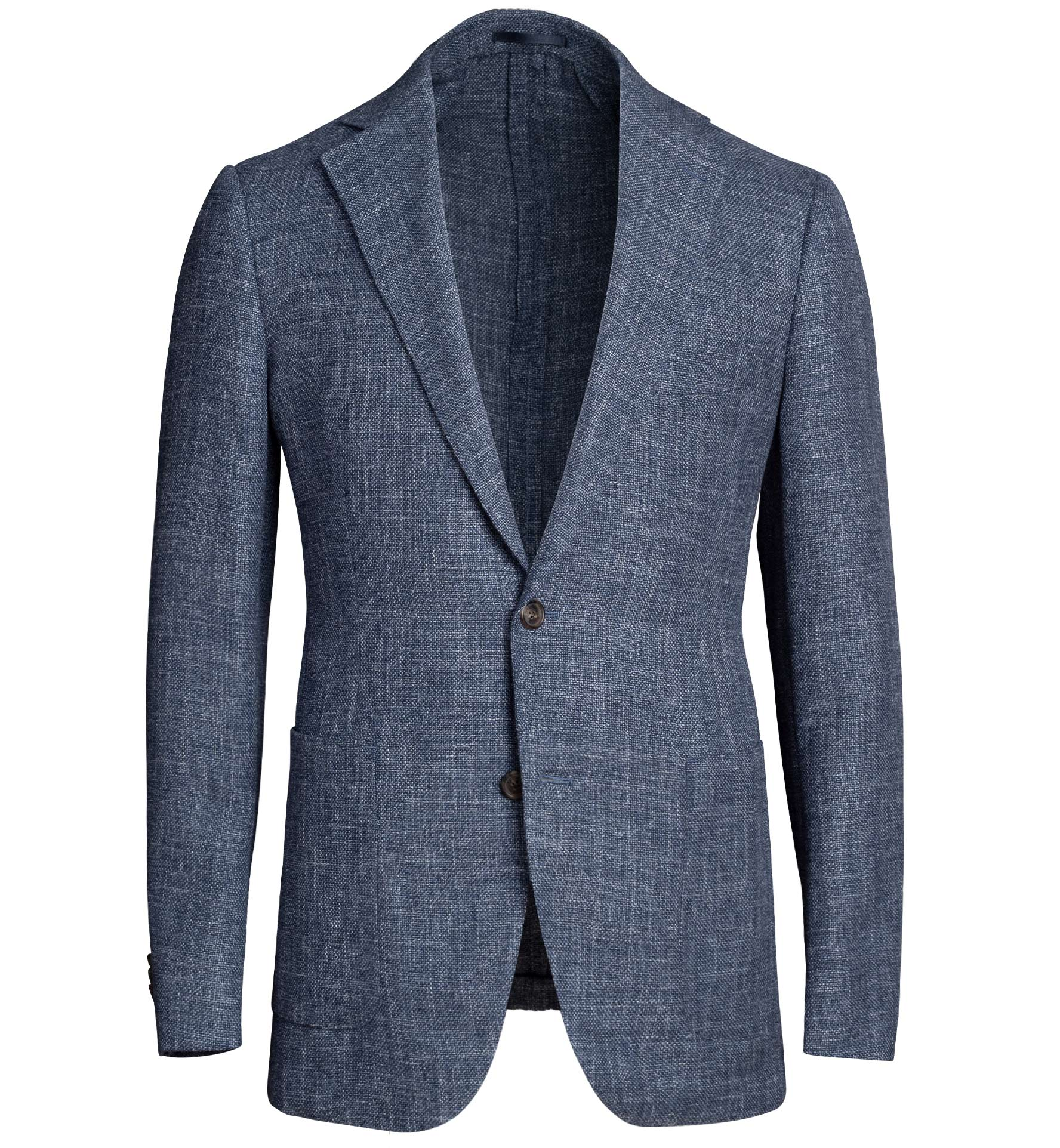 Zoom Image of Bedford Faded Blue Melange Wool Blend Jacket