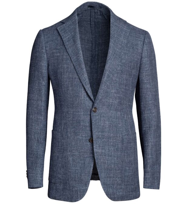 Bedford Faded Blue Melange Wool Blend Jacket