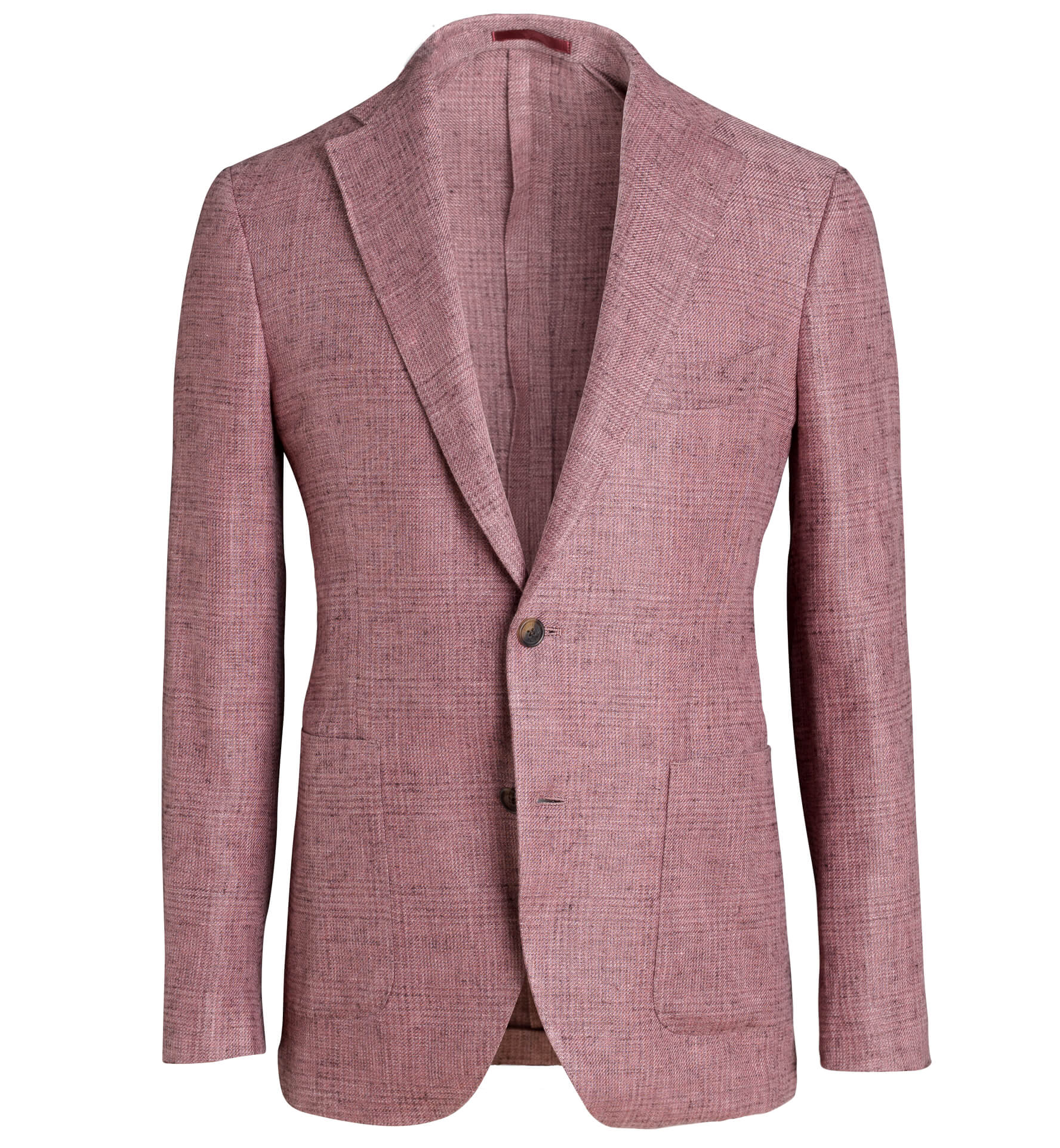 Zoom Image of Bedford Faded Red Glen Plaid Linen and Wool Jacket