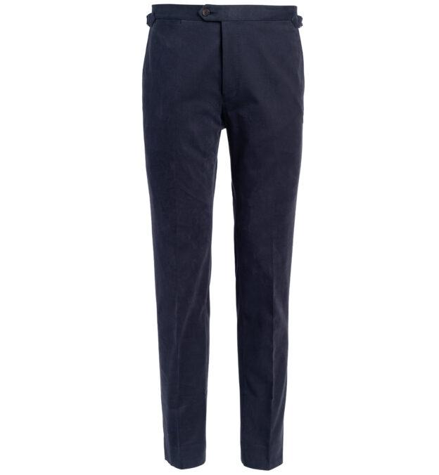 Allen Navy Shaved Cotton Trouser