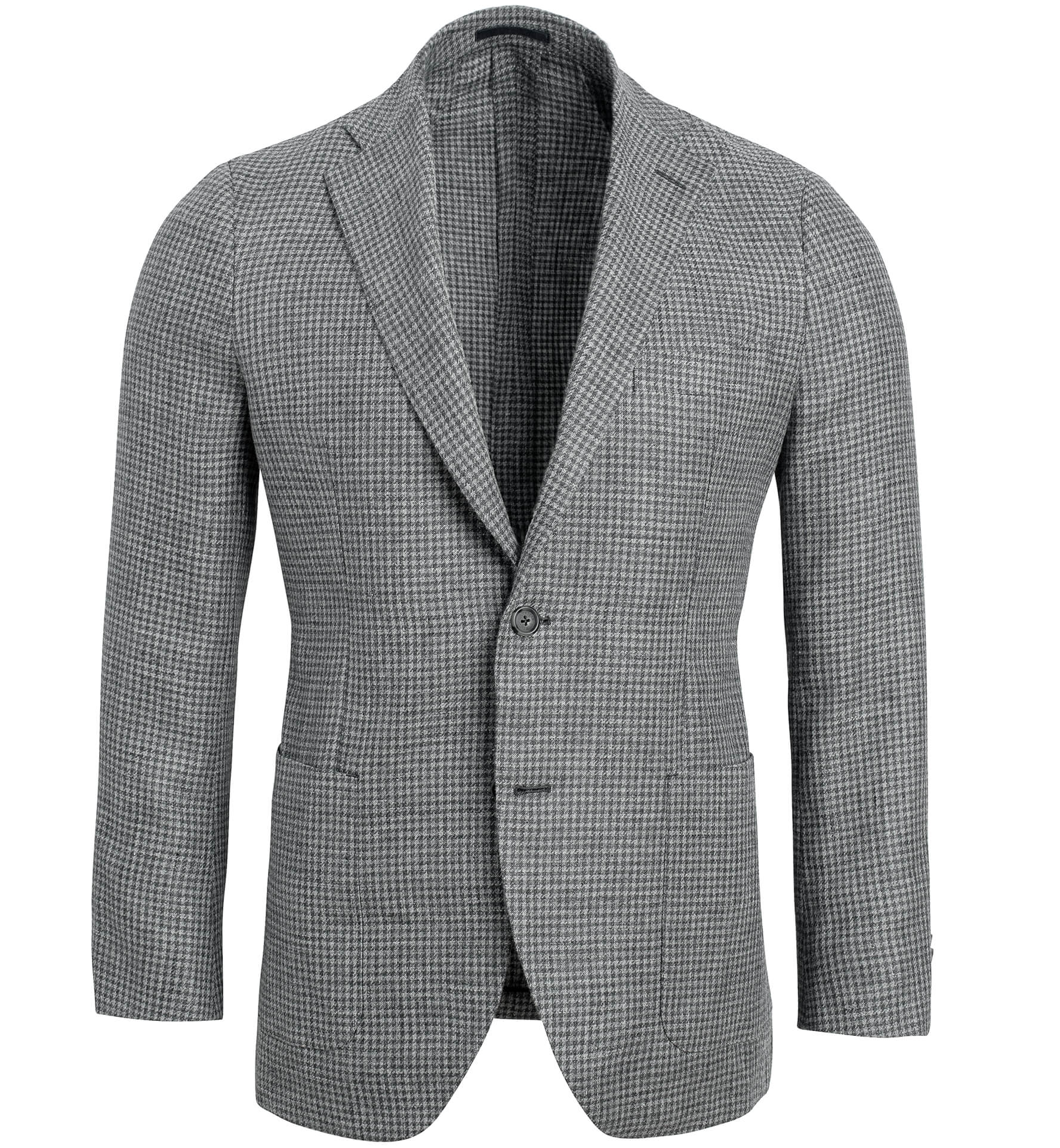 Zoom Image of Bedford Grey Houndstooth Linen and Wool Jacket