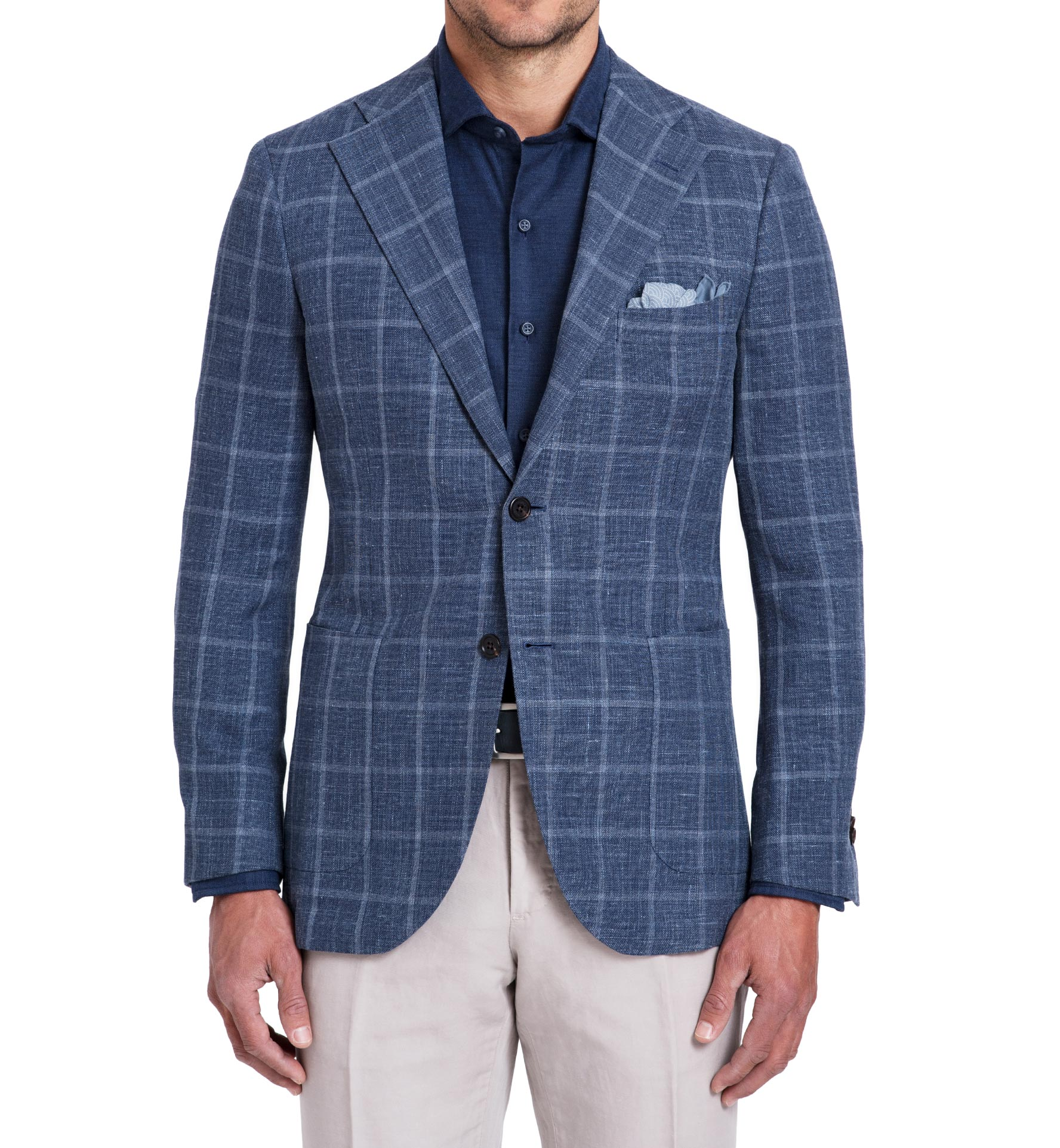 Zoom Image of Bedford Slate Blue Windowpane Jacket