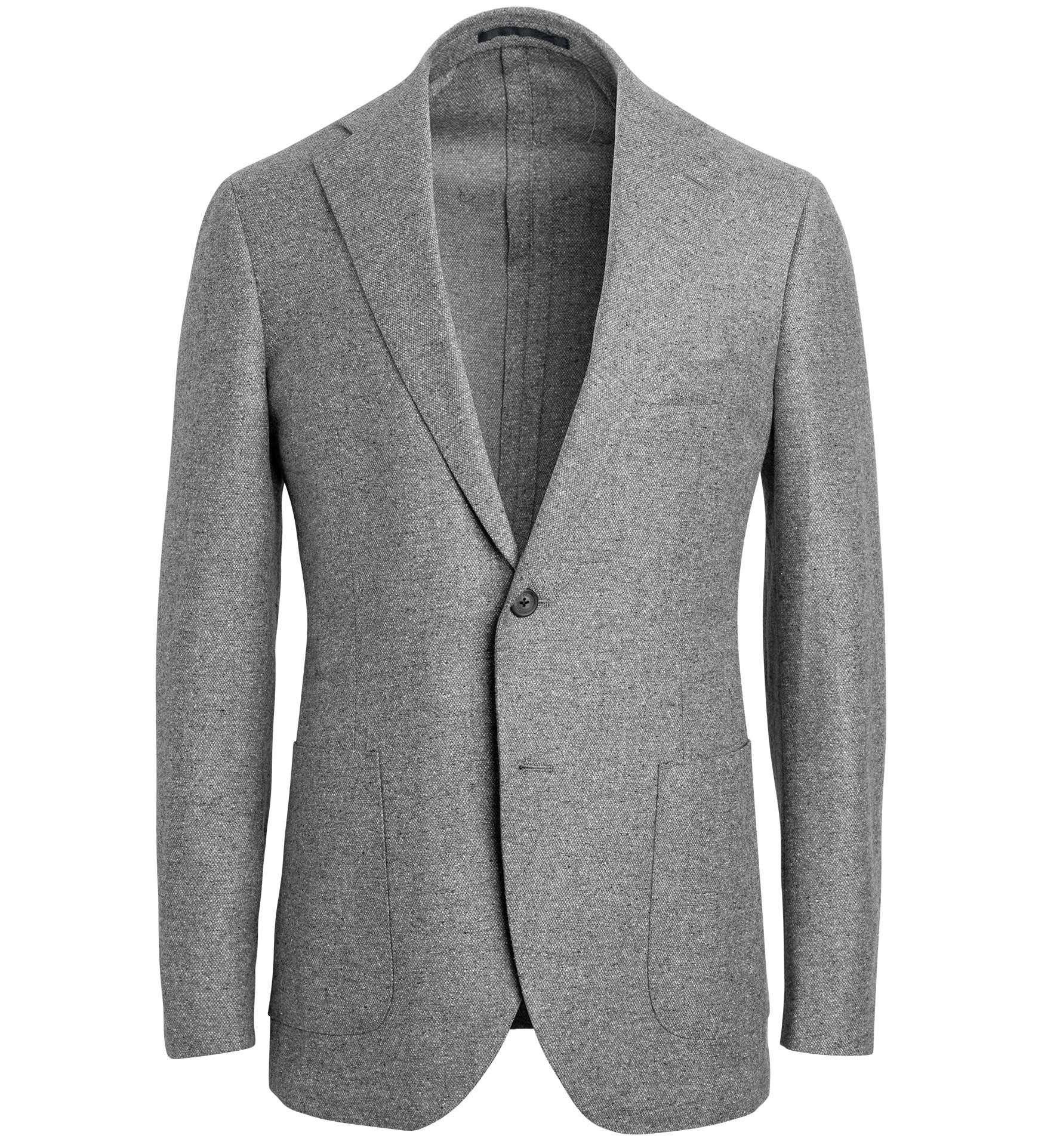 Zoom Image of Bedford Light Grey Wool and Silk Flannel Jacket