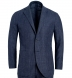 Zoom Thumb Image 1 of Bedford Slate Houndstooth Wool and Linen Suit Jacket