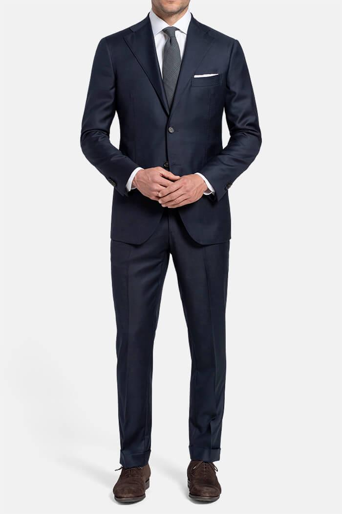 Allen Navy S110s Wool Suit