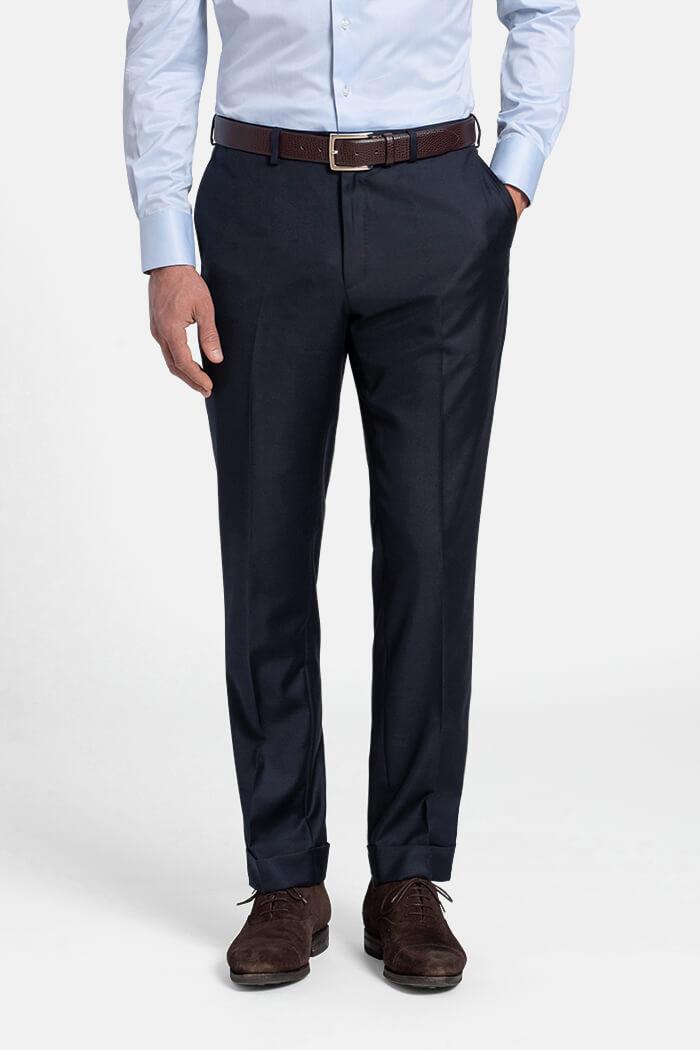 Allen Navy S110s Wool Trouser