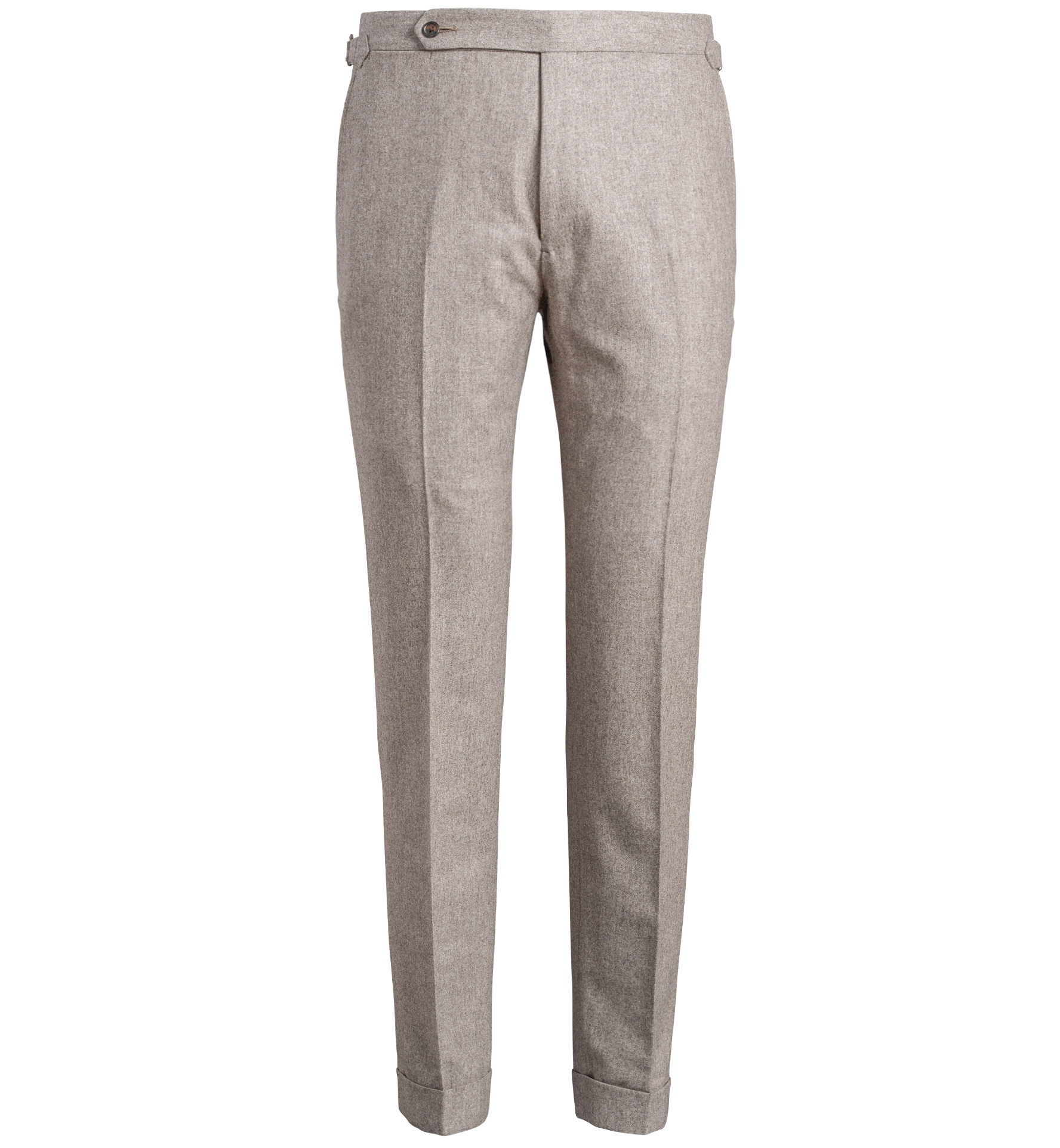 Zoom Image of Allen Fawn Melange Wool Flannel Trouser