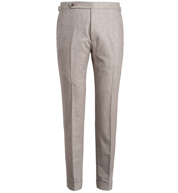 Allen Fawn Melange Wool Flannel Trouser