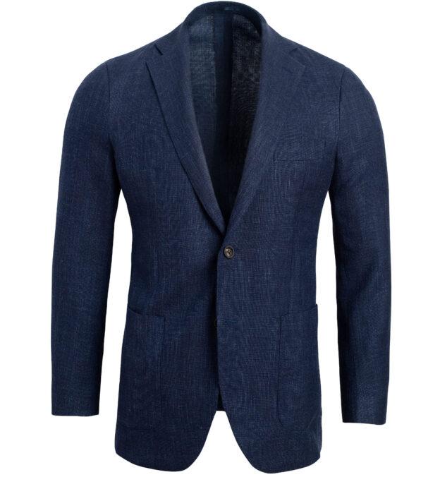Bedford Navy Melange Summer Blend Jacket