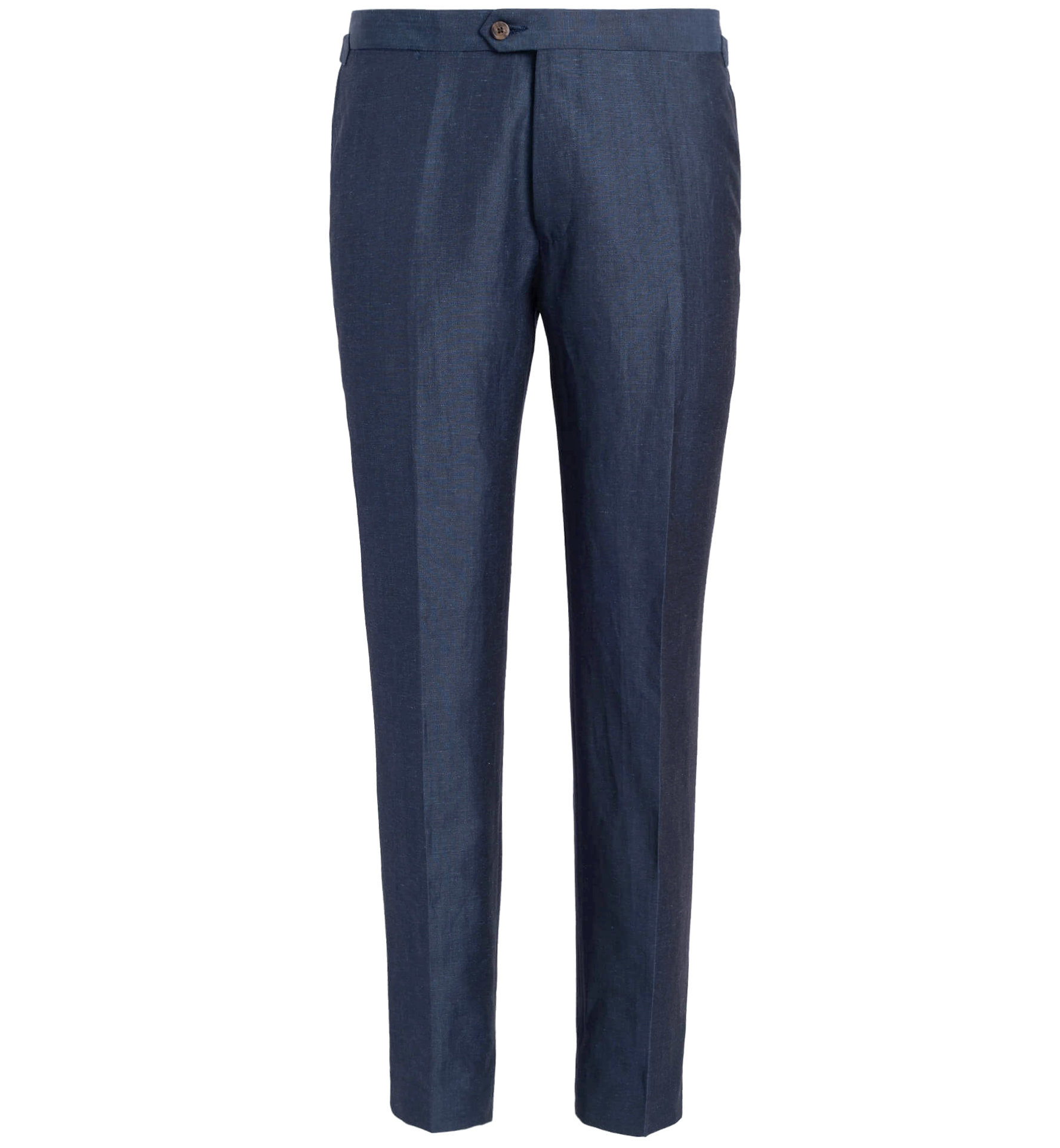 Zoom Image of Allen Blue Wool and Linen Trouser
