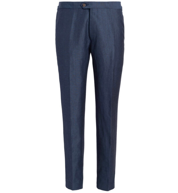 Allen Blue Wool and Linen Trouser
