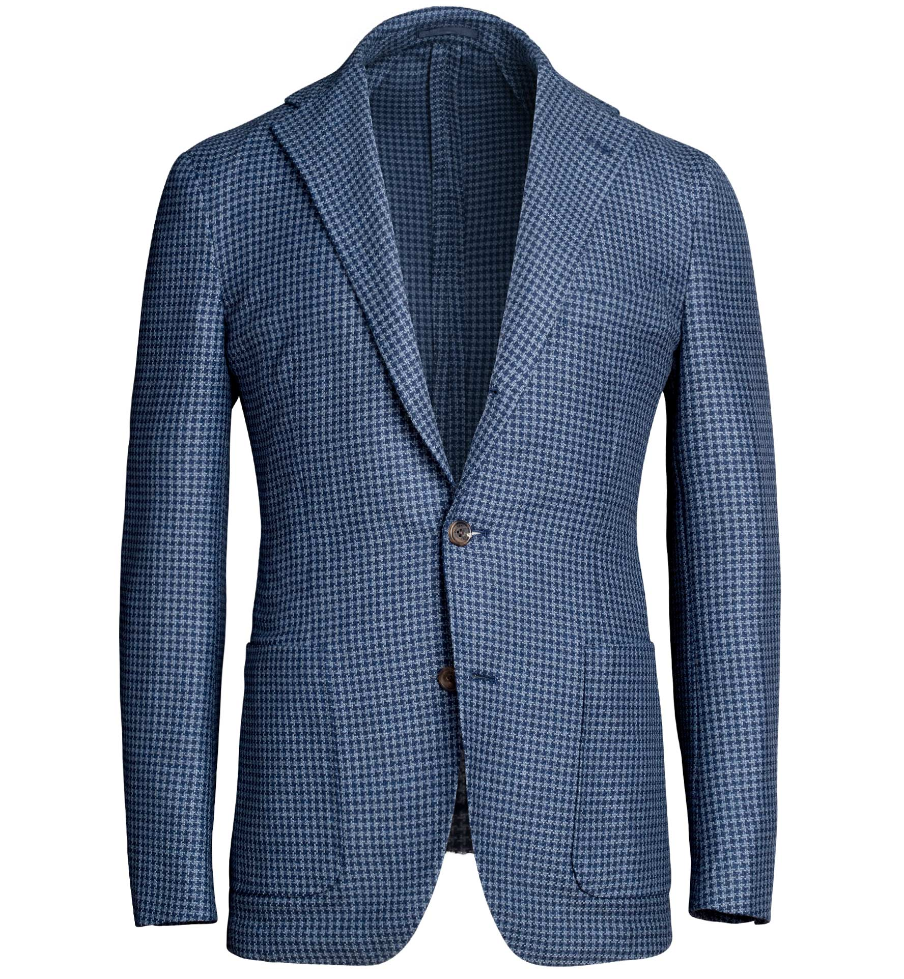 Zoom Image of Waverly Blue Houndstooth Wool and Cotton Jacket