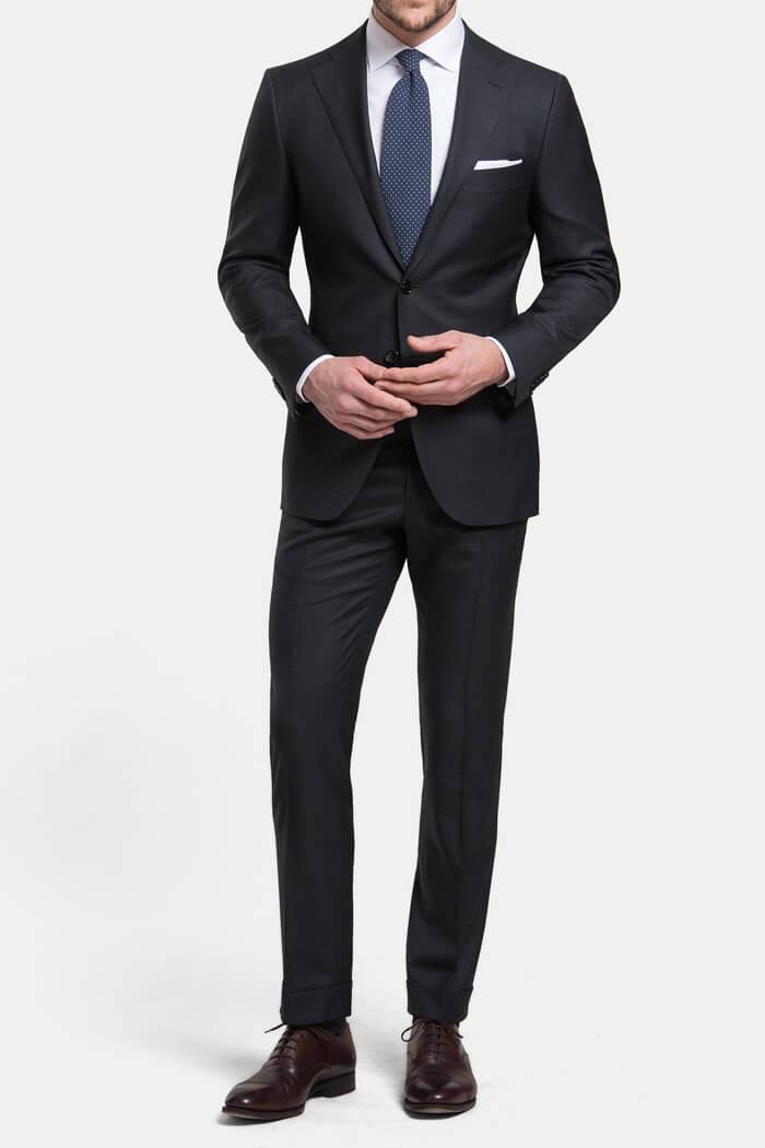 Mercer Charcoal S150s Wool Suit