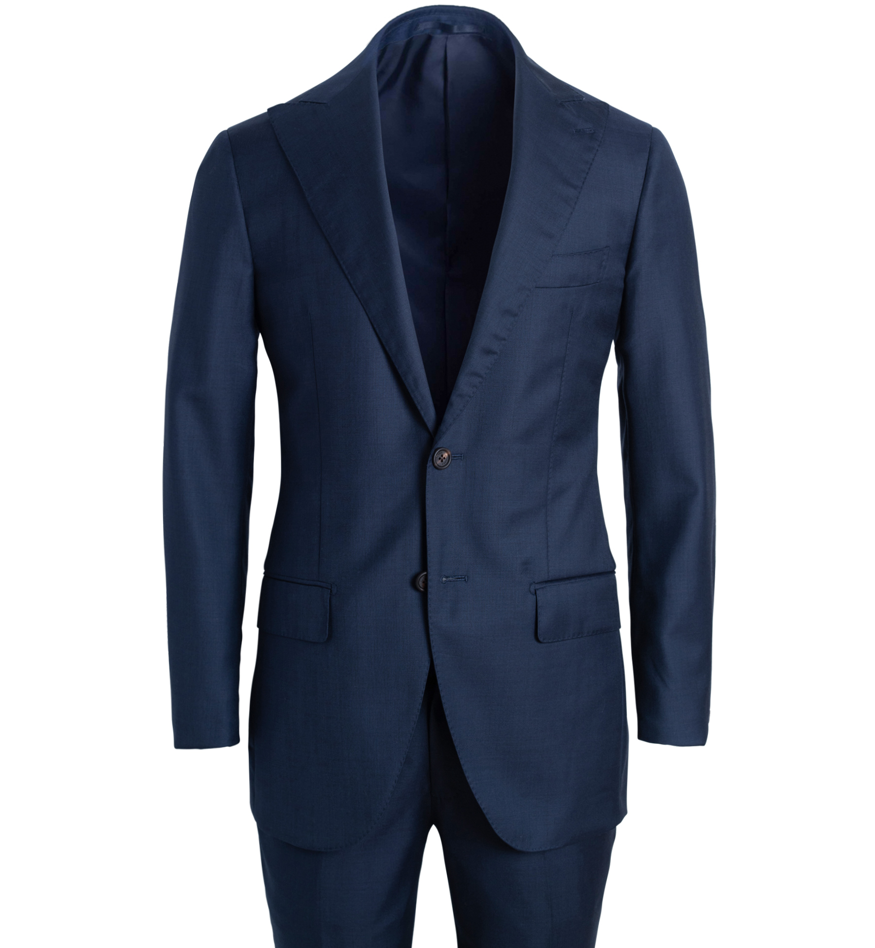 Zoom Image of Allen Navy S130s Sharkskin Suit