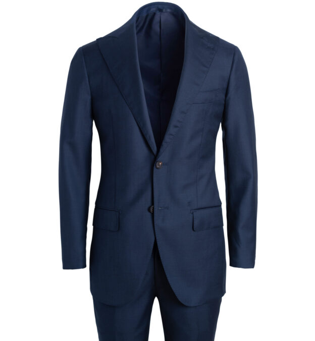 Allen Navy S130s Sharkskin Suit
