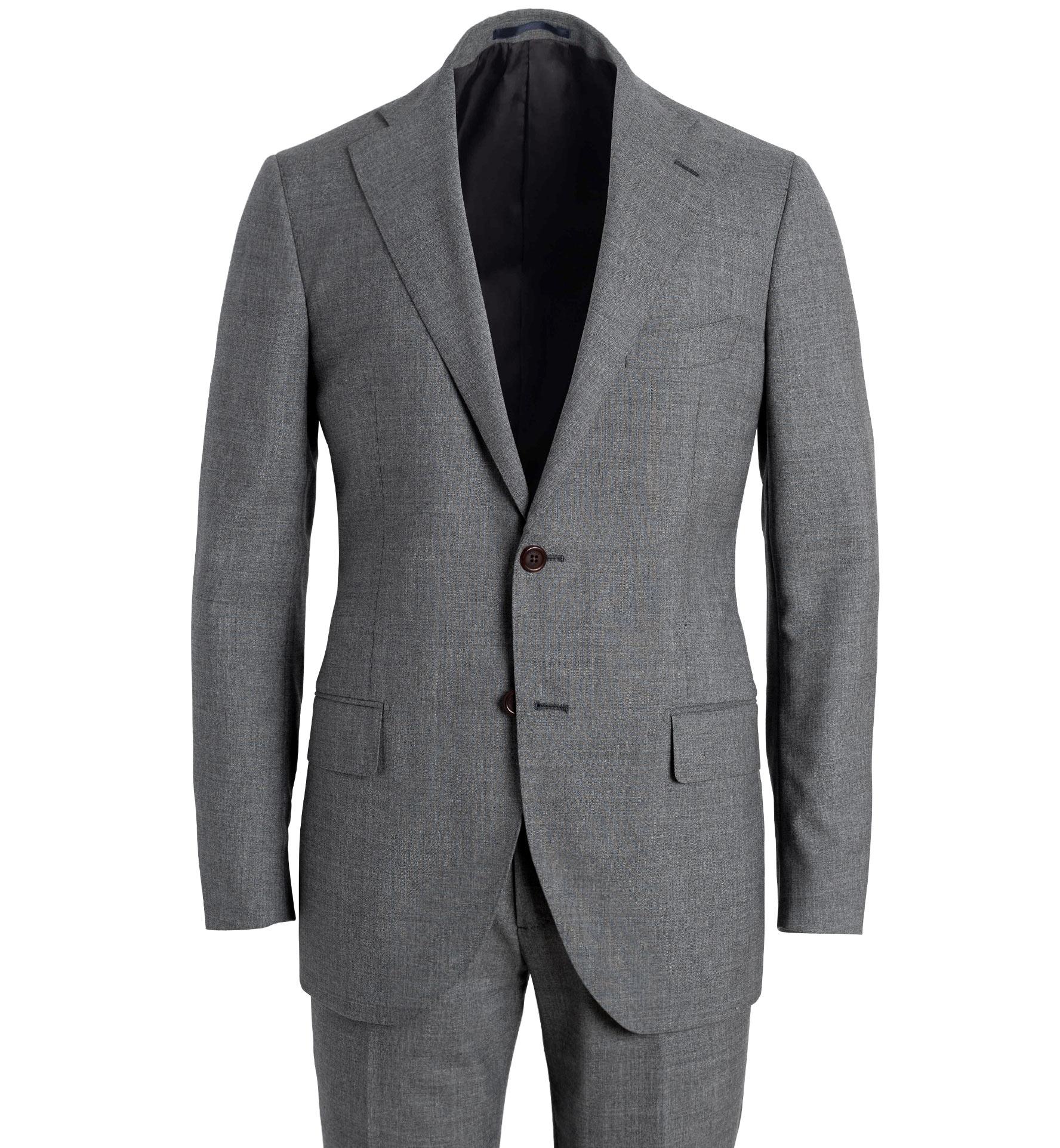 Zoom Image of Allen Grey Lightweight Fresco Wool Suit