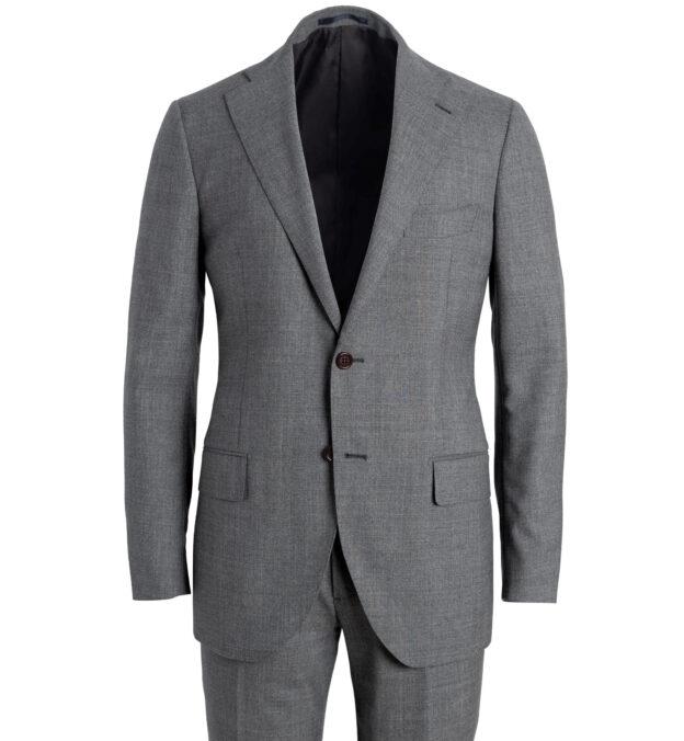 Allen Grey Lightweight Fresco Wool Suit