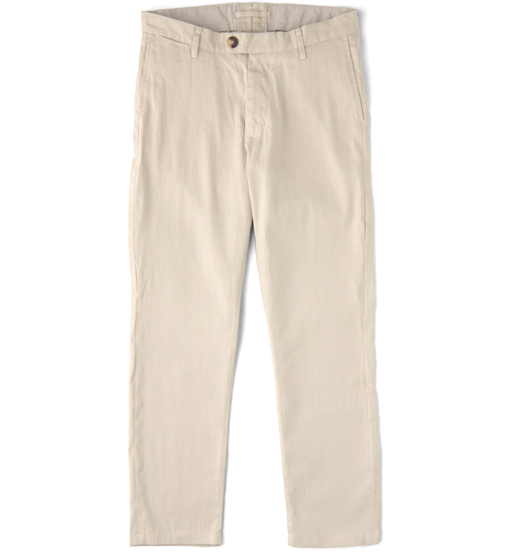 Zoom Image of Bowery Beige Stretch Linen Blend Chino