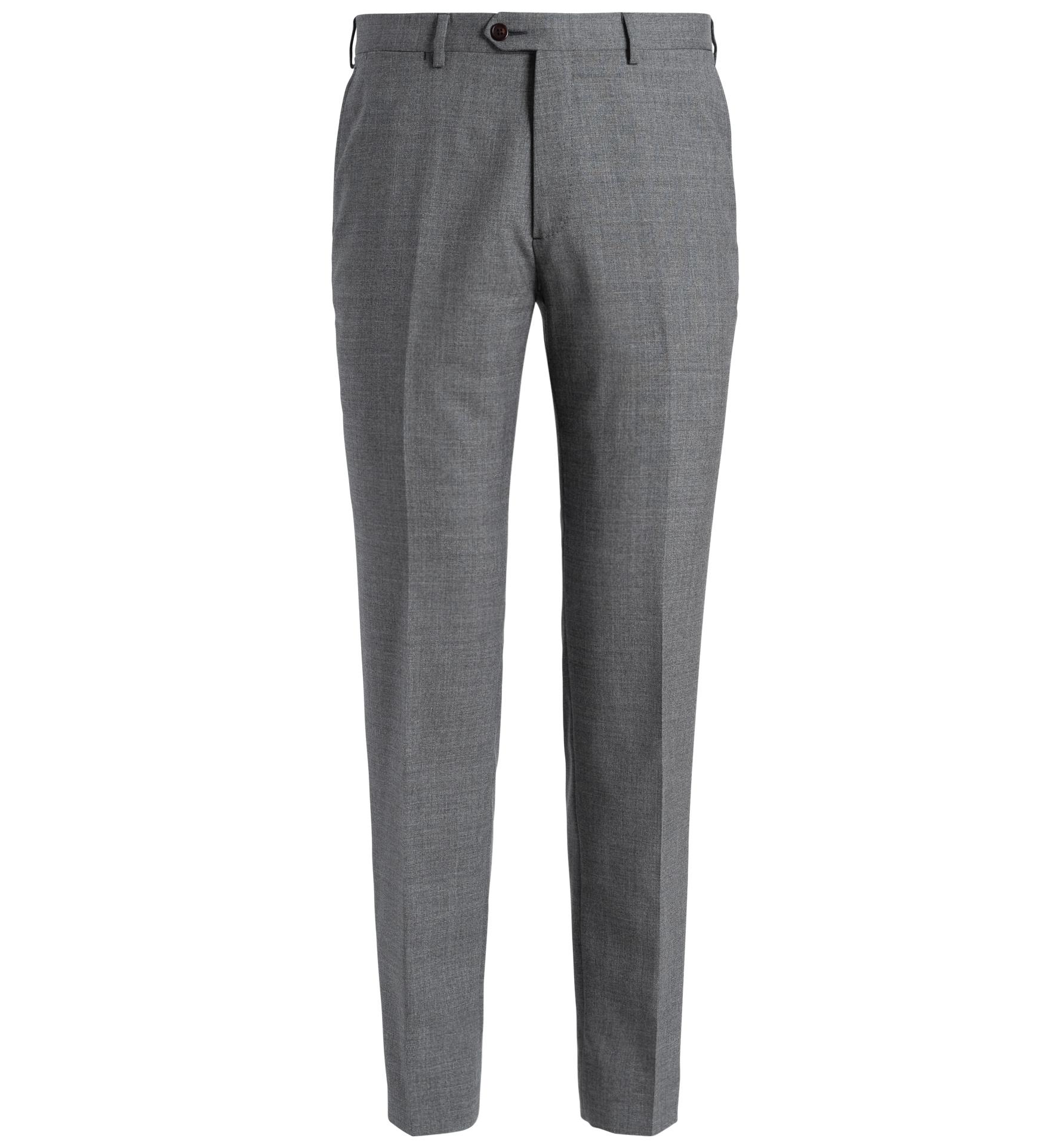Zoom Image of Allen Grey Lightweight Fresco Trouser