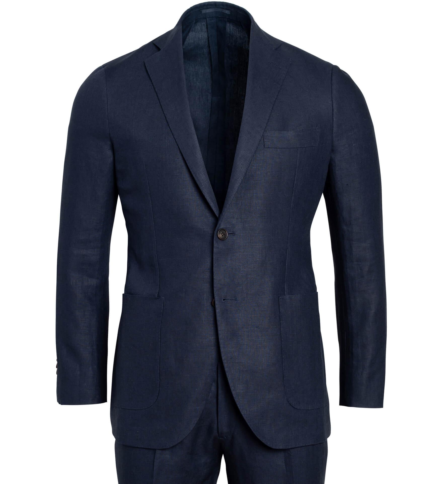 Zoom Image of Bedford Navy Irish Linen Suit