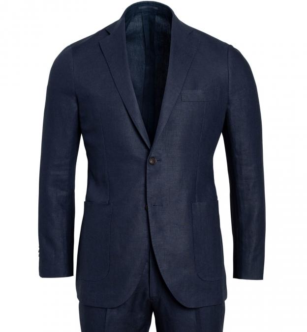 Bedford Navy Irish Linen Suit