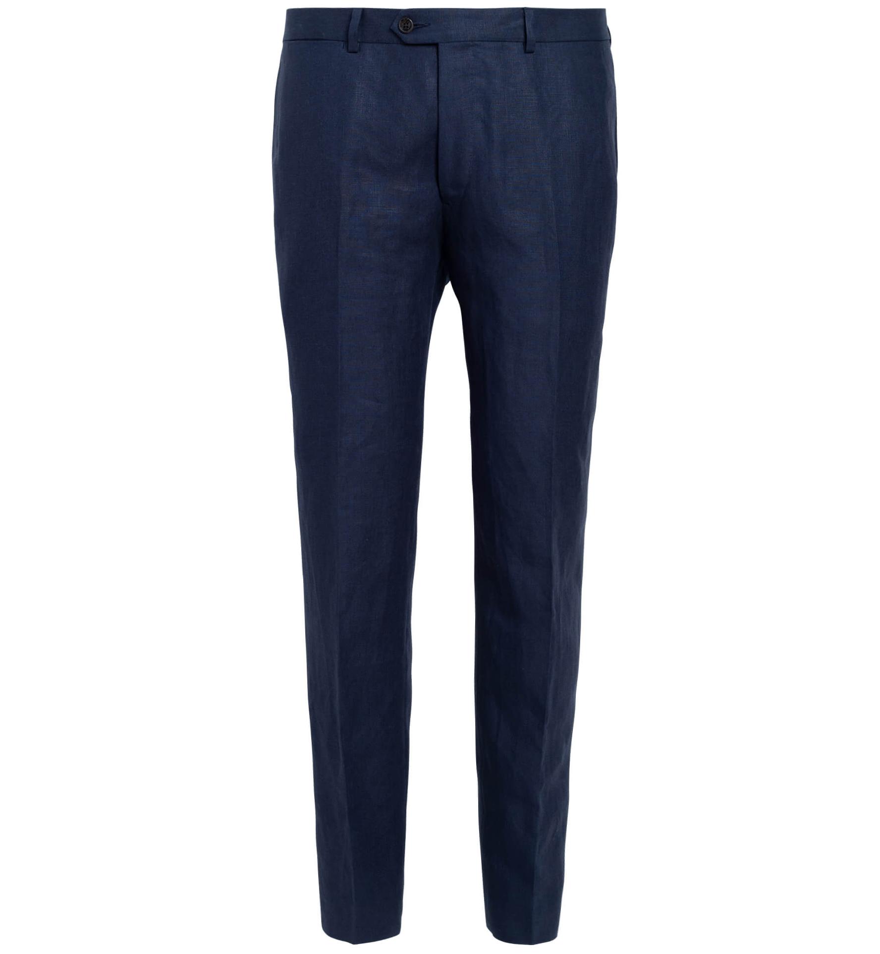 Zoom Image of Allen Navy Irish Linen Trouser