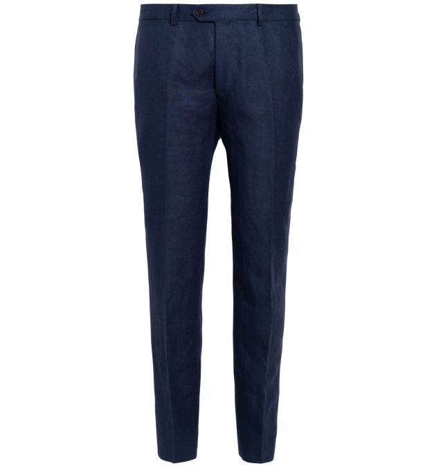 Allen Navy Irish Linen Trouser