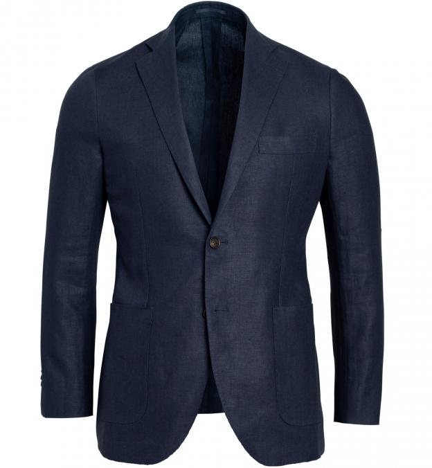 Bedford Navy Irish Linen Jacket