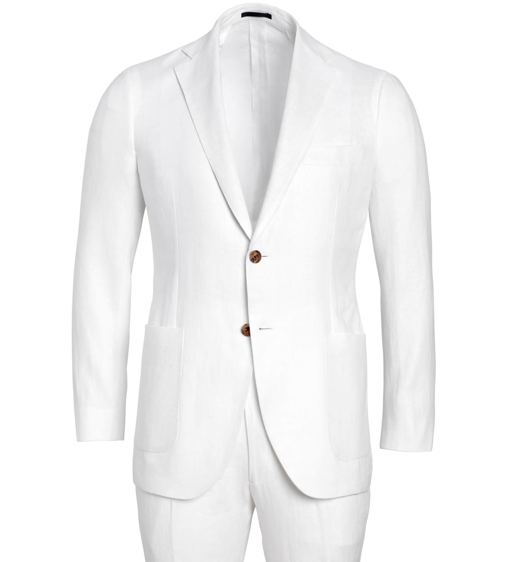Zoom Image of Bedford White Irish Linen Suit