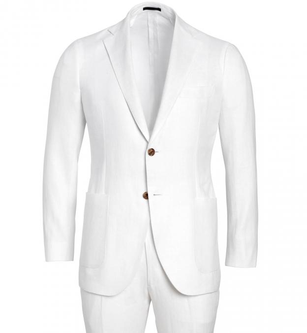 Bedford White Irish Linen Suit