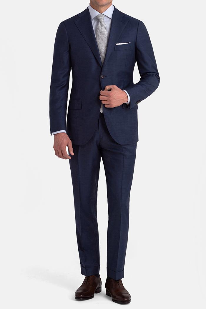 Allen Blue S110s Sharkskin Suit