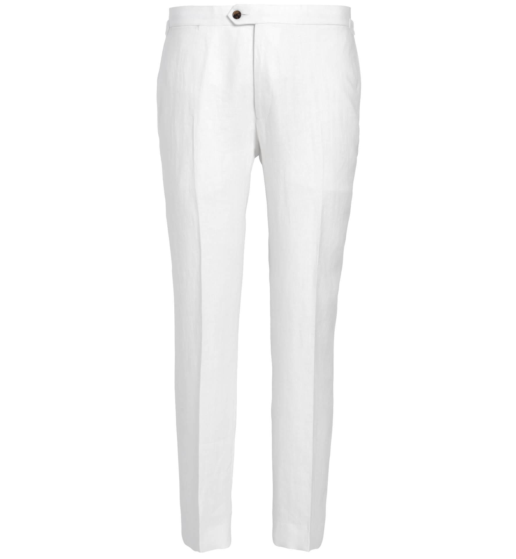 Zoom Image of Allen White Irish Linen Trouser