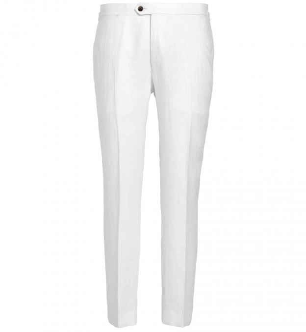Allen White Irish Linen Trouser