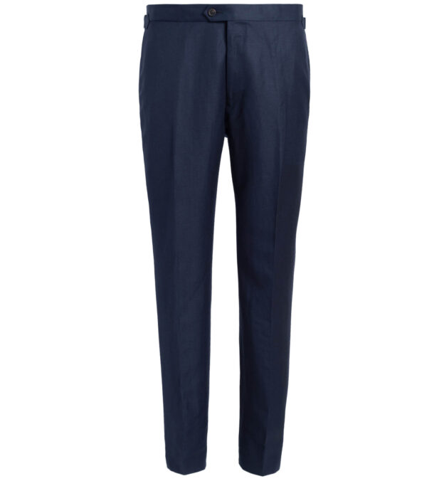 Allen Navy Wool and Linen Trouser