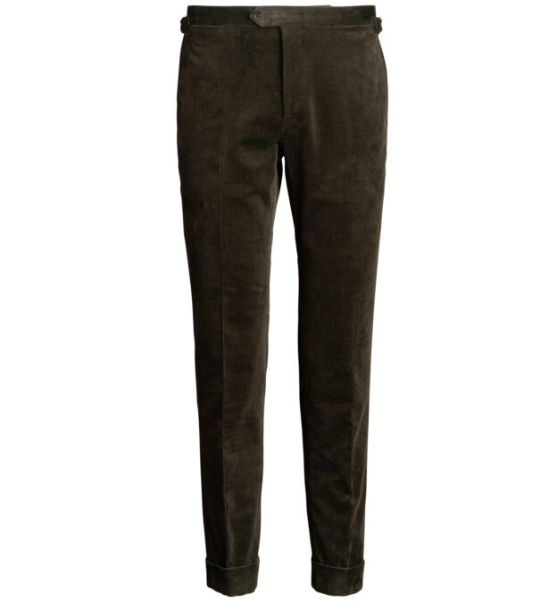 Allen Pine Stretch Corduroy Trousers