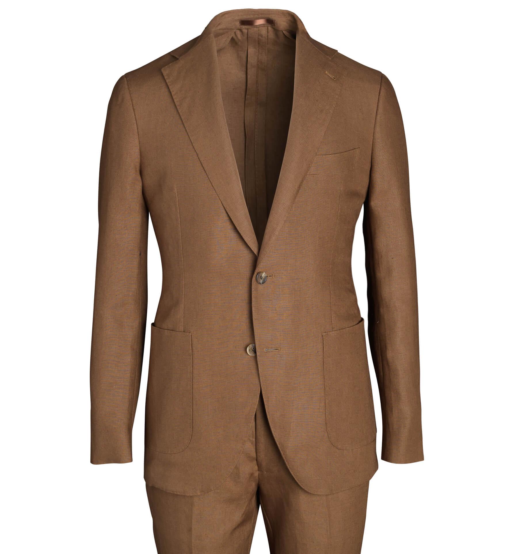 Zoom Image of Bedford Tobacco Irish Linen Suit