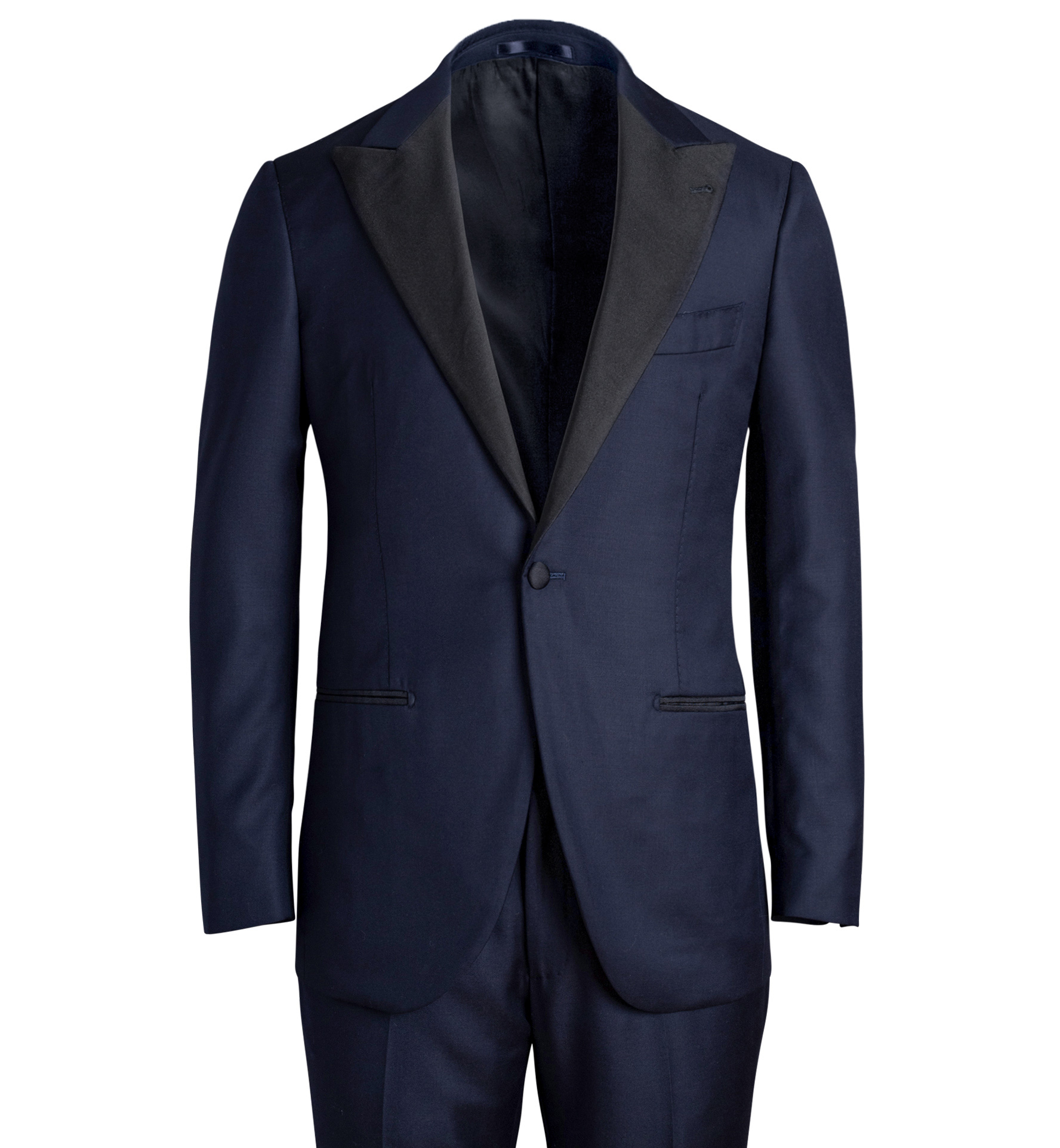 Zoom Image of Mayfair Navy Wool Tuxedo