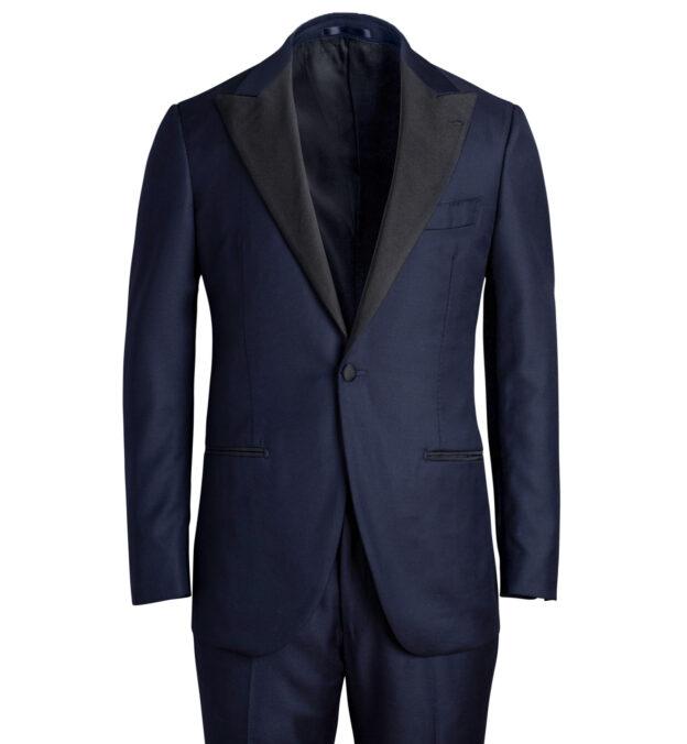 Mayfair Navy Wool Tuxedo