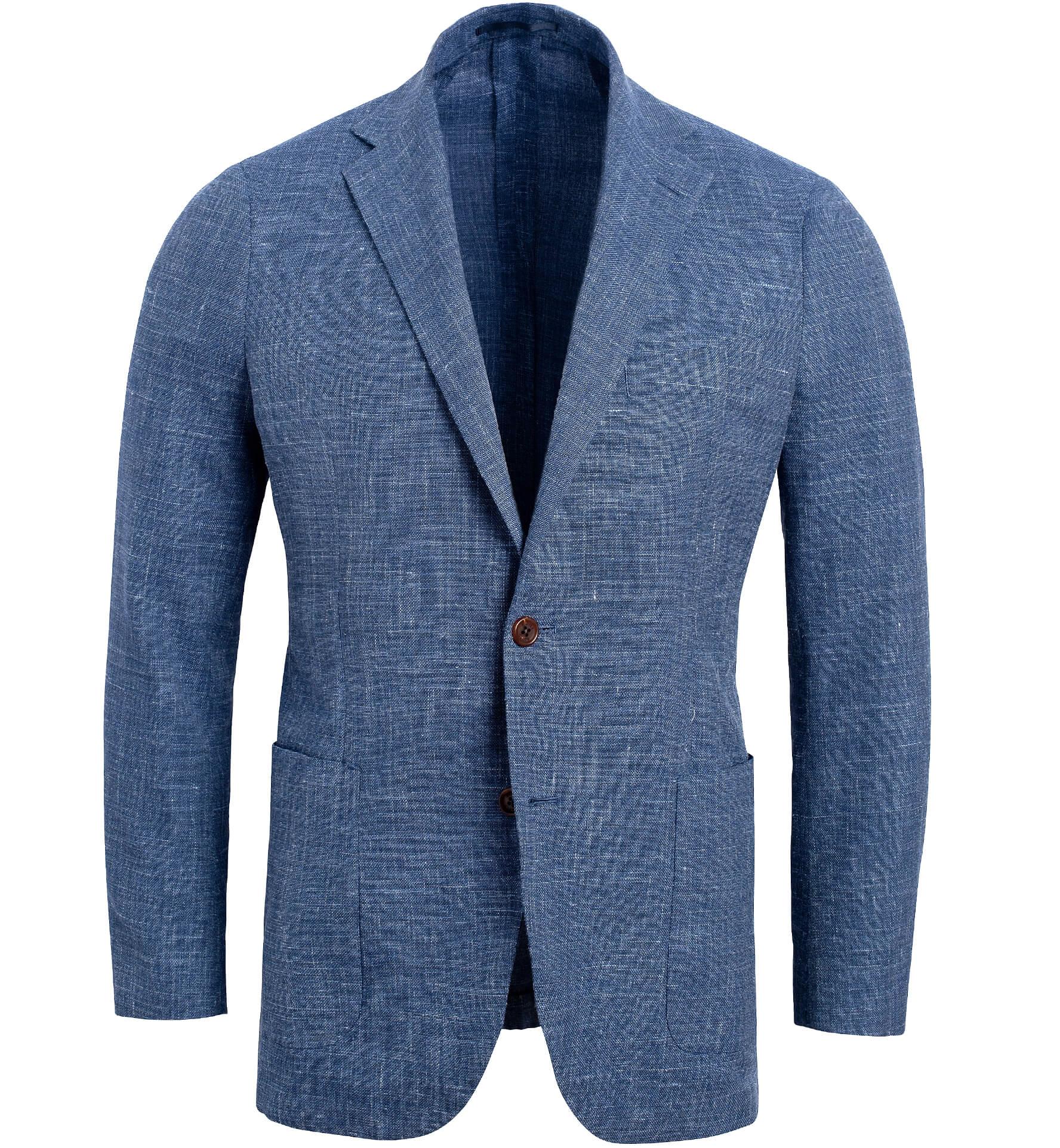 Zoom Image of Bedford Faded Blue Melange Summer Blend Jacket