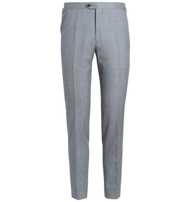 Allen Light Grey Wool Silk and Linen Trouser