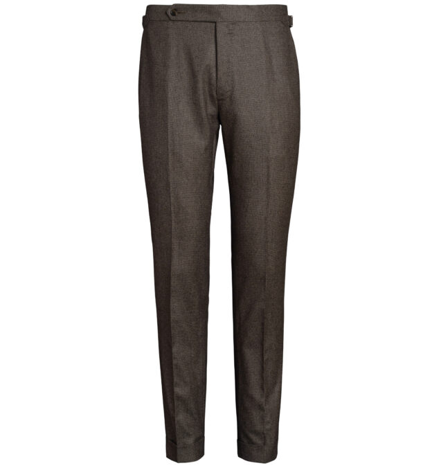 Allen Brown Houndstooth Flannel Trouser