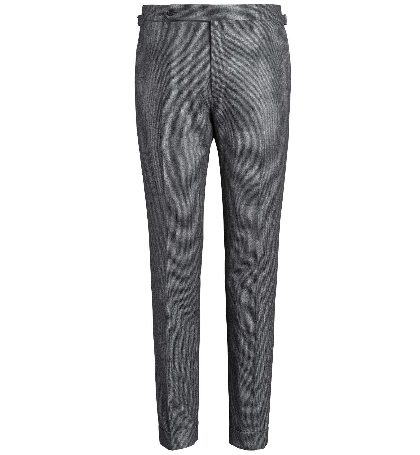 Zoom Image of Allen Grey Houndstooth Flannel Trouser