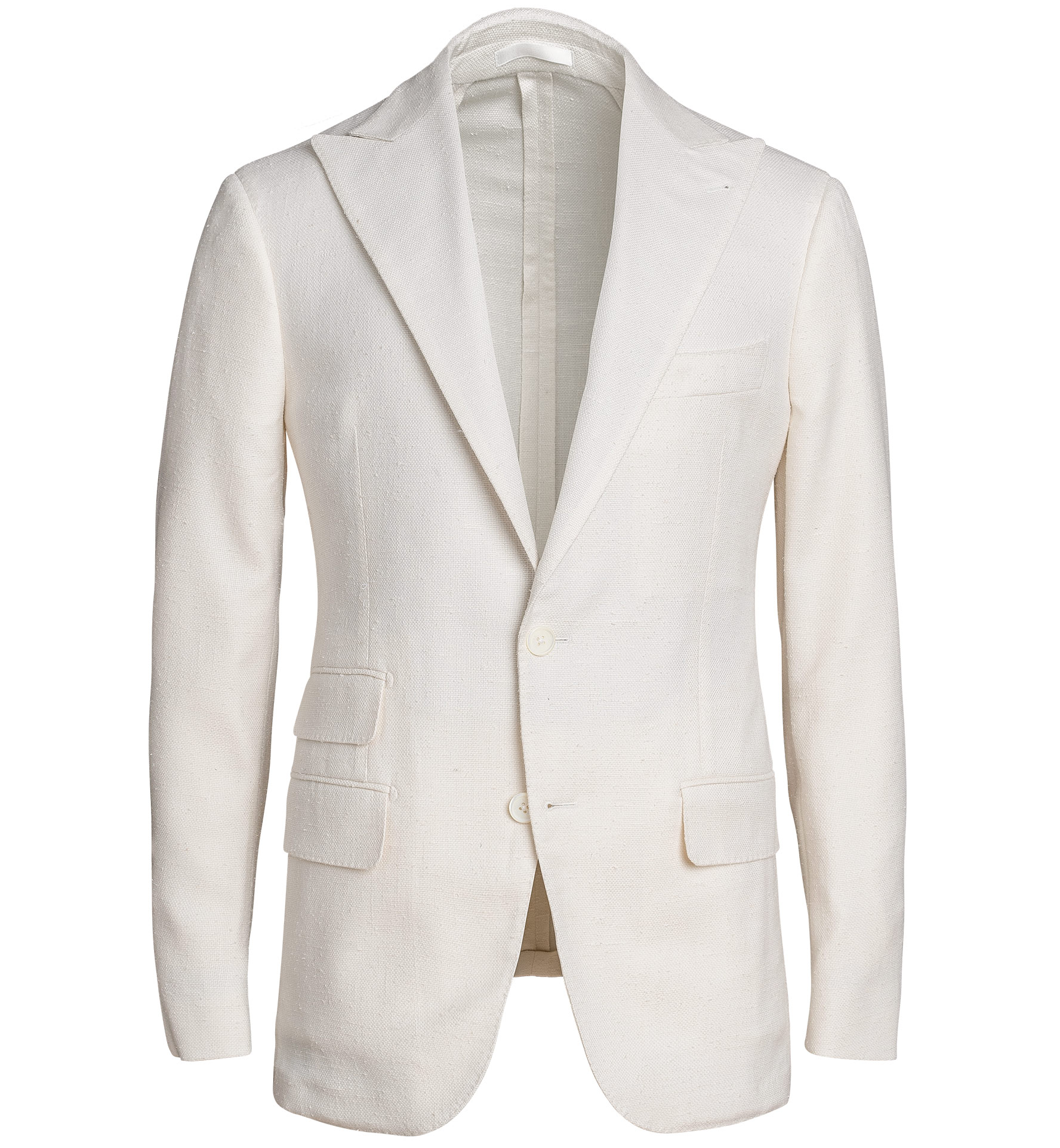 Zoom Image of Mayfair Cream Silk and Wool Slub Weave Dinner Jacket