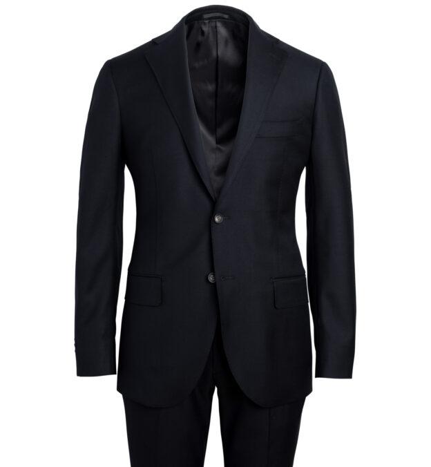 Allen Black S110s Wool Suit